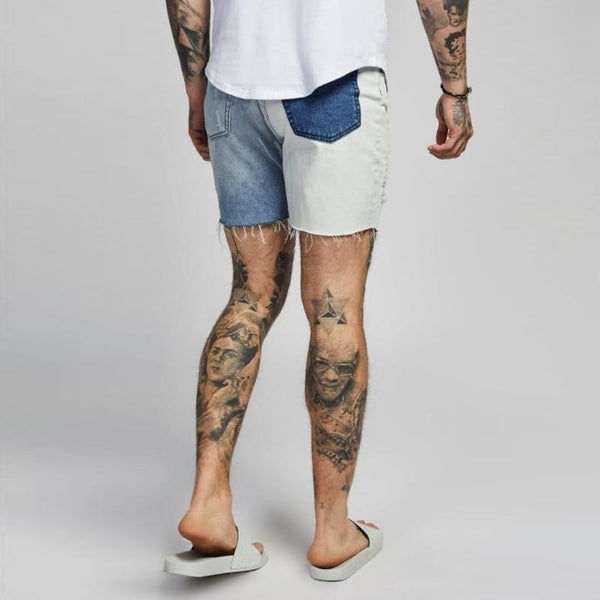 2-Tone Slim-Fit Short for Men - d'143 Men's Clothing