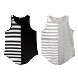 Half Stripe Half Sold Tank Top - d'143 Men's Clothing