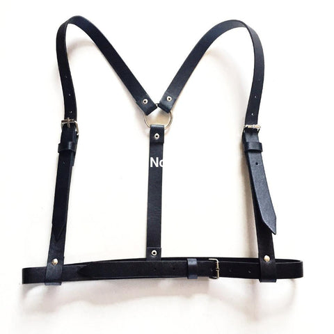 Adjustable Waist Leather Harness - d'143 Men's Clothing