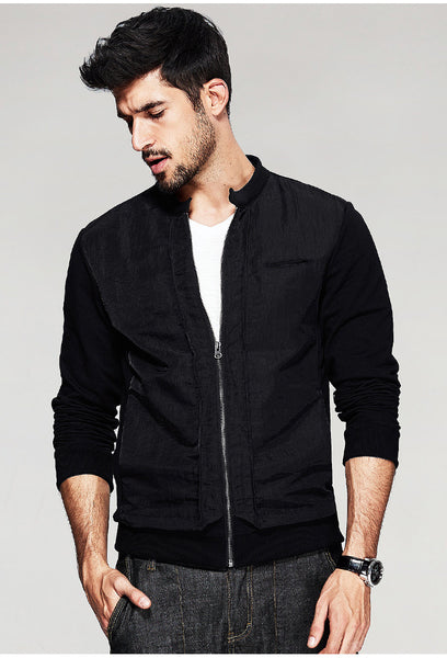 Zipper Front Jacket - d'143 Men's Clothing
