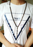 Lava Rock Stones with Spike Pendant Necklace - d'143 Men's Clothing