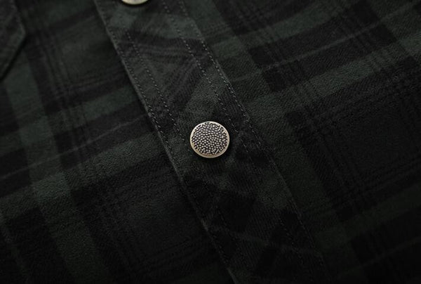 Cashmere Corduroy Button Down Shirt - d'143 Men's Clothing