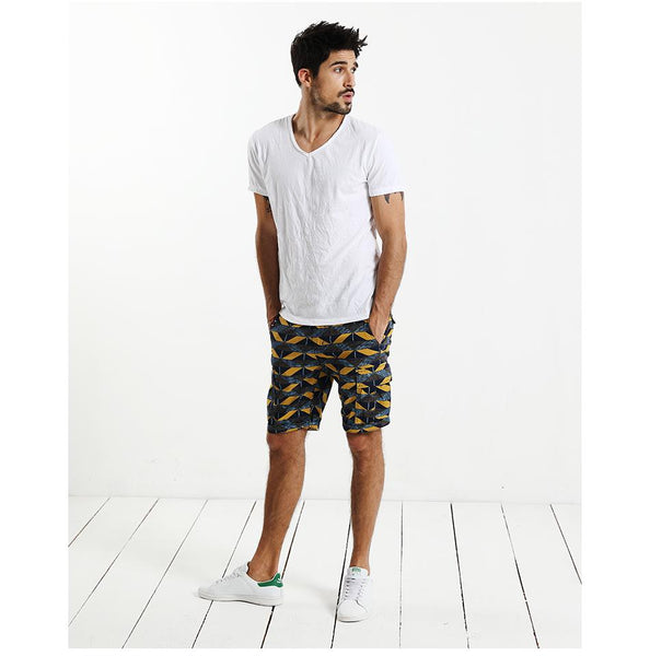 Geometric Pattern Print Shorts for Men - d'143 Men's Clothing