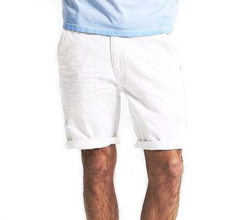 White Denim Shorts for Men