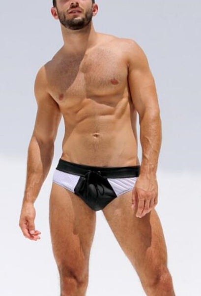 Mesh and Rubber Brief Underwear - d'143 Men's Clothing