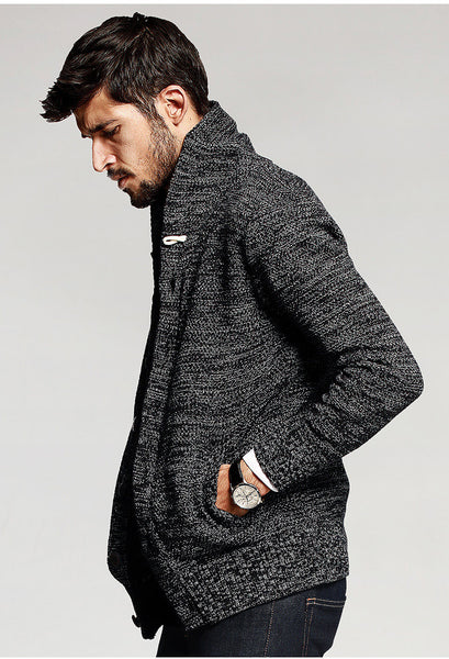 Knitted Static Cardigan Sweater - d'143 Men's Clothing