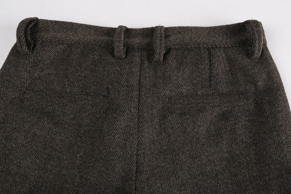 Business Casual Wool Trousers - d'143 Men's Clothing