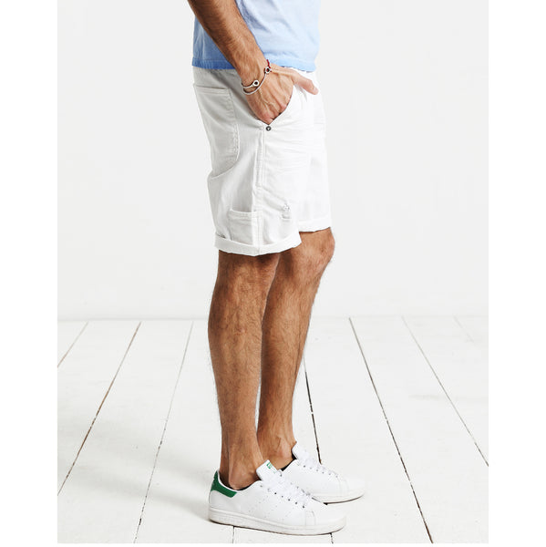 White Denim Shorts for Men - d'143 Men's Clothing