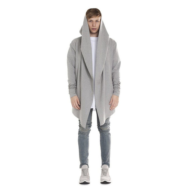 Loose Style Draping Hoodie - d'143 Men's Clothing