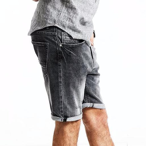 Vintage Slim Fit Denim Shorts for Men
