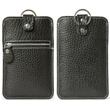 All-In-One Multifunction Leather Wallet  Zippered Coin Purse Phone Case for Men - d'143 Men's Clothing