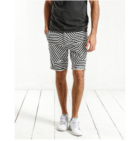 Illusion Striped Shorts for Men - d'143 Men's Clothing