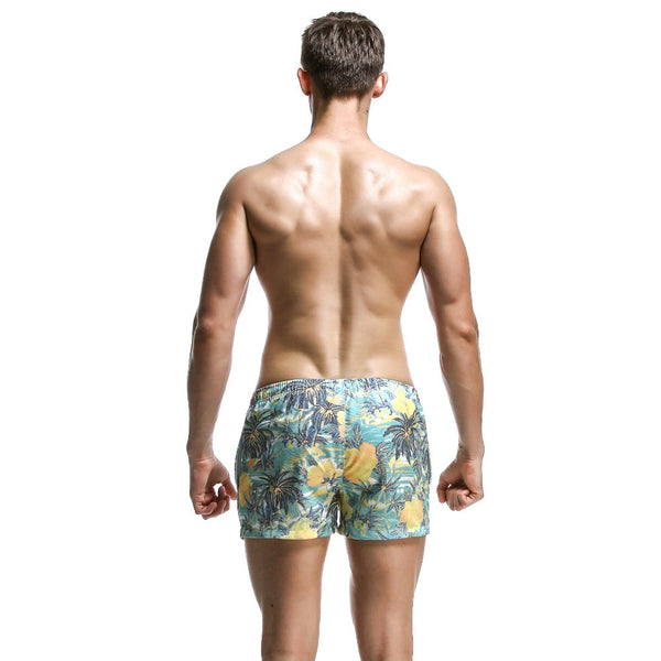 Pastel Floral Quick Drying Board Shorts - d'143 Men's Clothing