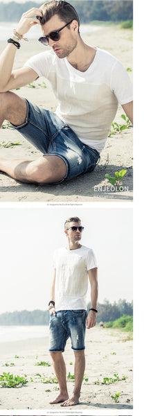 Casual Base Fit Patchwork T-Shirts for Men - d'143 Men's Clothing
