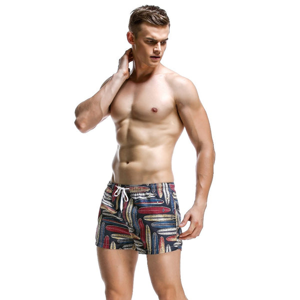 Vintage Long Board Beach Shorts - d'143 Men's Clothing