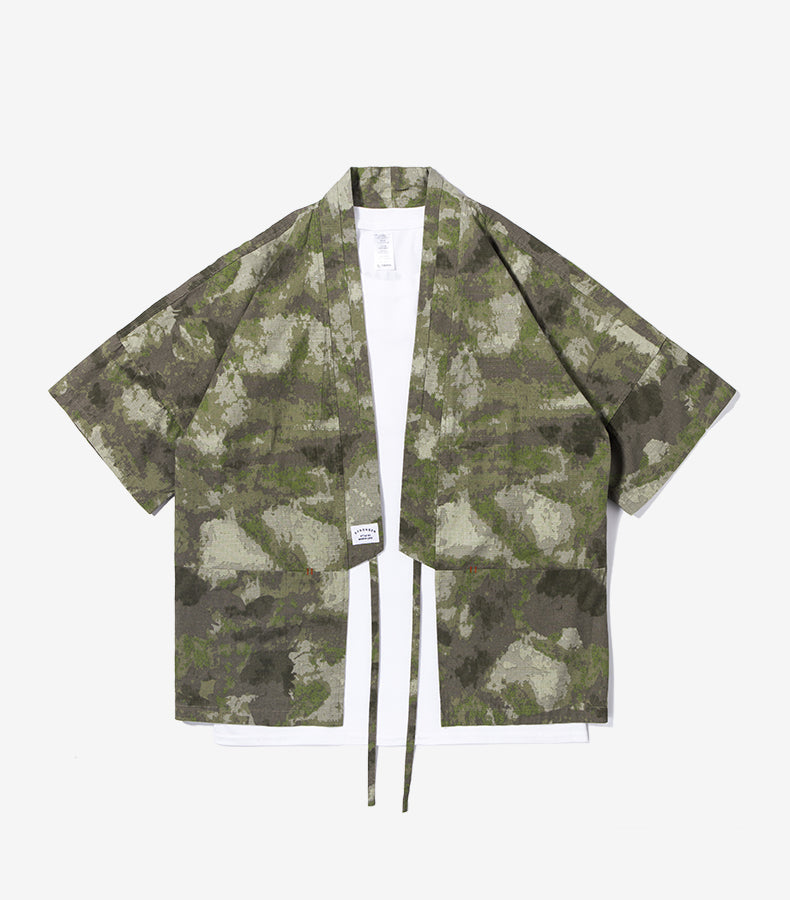 50b923e8 Japanese Kimono Inspired Lightweight Jacket for Men | CAMOUFLAGE - d'143  Men's Clothing