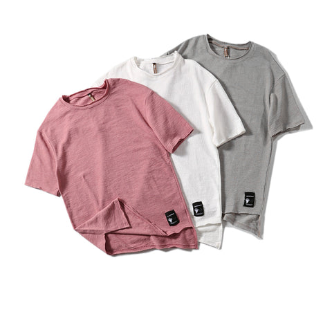 Breathable Irregular Hem T-Shirt for Men - d'143 Mens Fashion