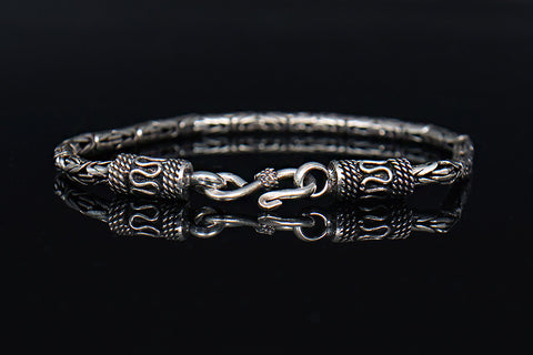 Genuine Sliver Antique Design Chain Bracelet - d'143 Men's Clothing