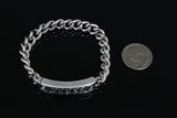 Genuine Sliver Antique Design Linked Chain Bracelet - d'143 Men's Clothing