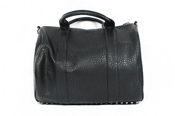Faux Leather Shoulder Tote Bag - d'143 Men's Clothing