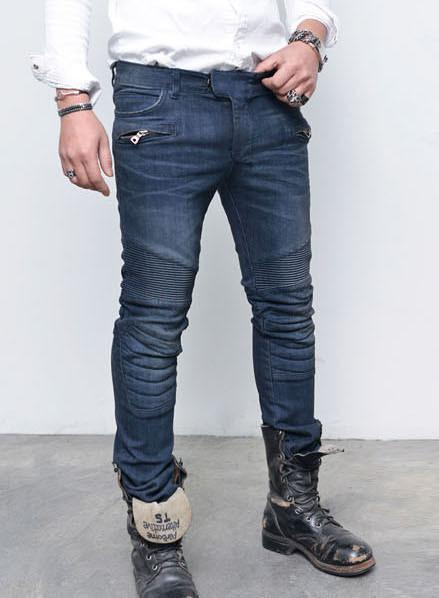 Knee-Padded Slim Fit Jeans* - d'143 Men's Clothing