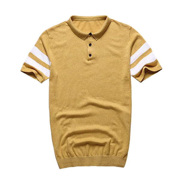 Knitted Slim Fit Polo Shirt - d'143 Men's Clothing