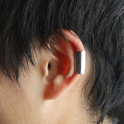 Simple Silver Ear Cuff - d'143 Men's Clothing
