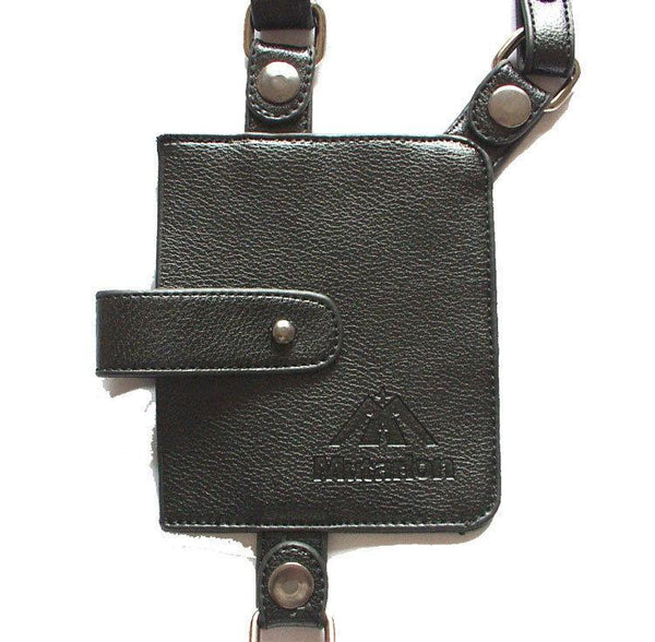 Dual Pocket Leather Holster Harness - d'143 Men's Clothing