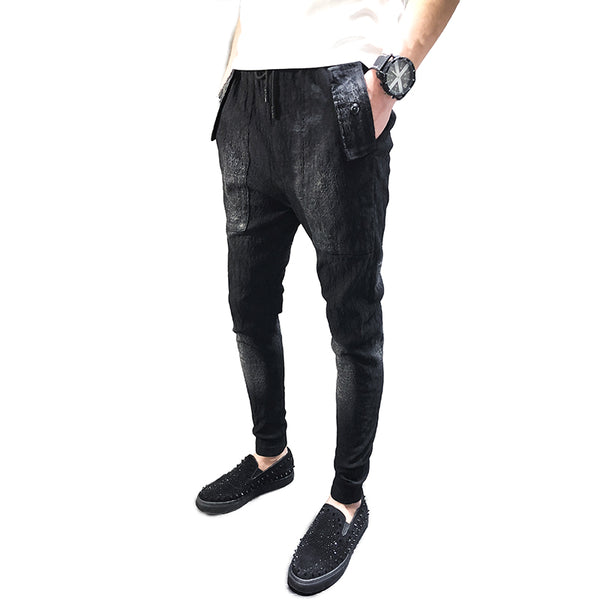 Pencil Trouser Slim Fit Harem Pants for Men - d'143 Men's Clothing