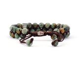 African Turquoise Braided Cuff Bracelet - d'143 Men's Clothing
