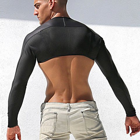 Mesh Sports Long Sleeve Vest - d'143 Men's Clothing
