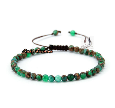 Semi-Precious Natural Stone Beaded Bracelet - d'143 Men's Clothing
