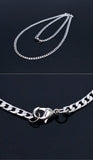 Thin Chain Short Necklace - d'143 Men's Clothing