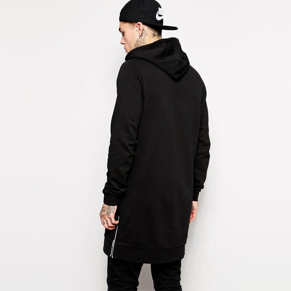 Longline oversized Fleece Hoodies Sweatshirts - d'143 - 2