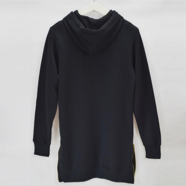 Longline oversized Fleece Hoodies Sweatshirts - d'143 - 4