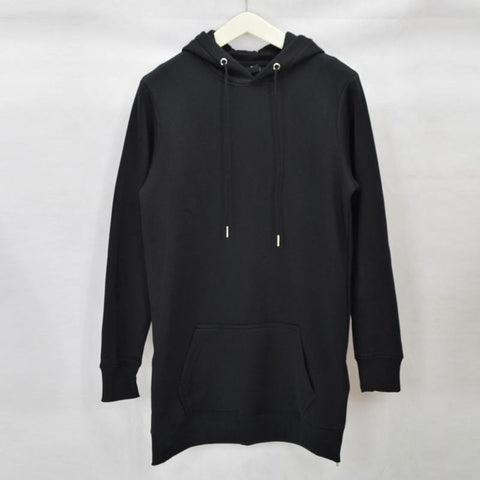 Longline oversized Fleece Hoodies Sweatshirts - d'143 Men's Clothing