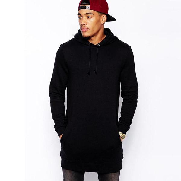 Longline oversized Fleece Hoodies Sweatshirts - d'143 - 1