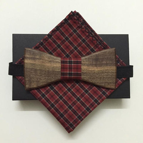 Handmade Bow-Tie and Matching Handkerchief - d'143 Men's Clothing
