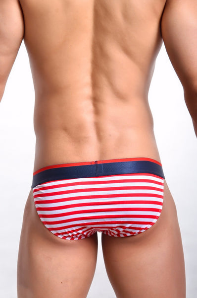Stars and Stripes Printed Brief Underwear - d'143 Men's Clothing