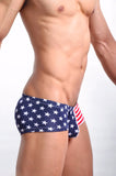 Stars and Stripes Low Waist Brief Underwear - d'143 Men's Clothing