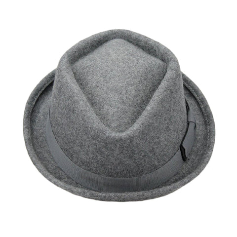Roll-Up Hem Short Brim Fedoras - d'143 Men's Clothing