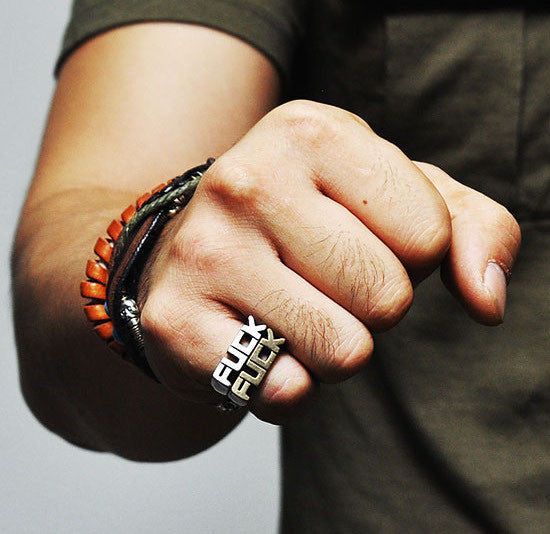 FU*K FUC* Ring for Men - d'143 Men's Clothing