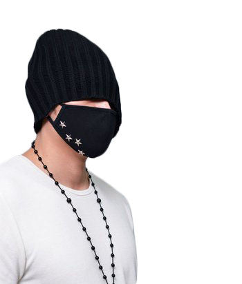 Silver Studded Fashion Mask - d'143 Men's Clothing