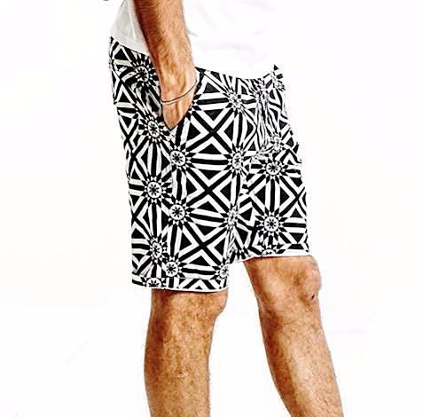 Illusion Pattern Shorts for Men - d'143 Men's Clothing