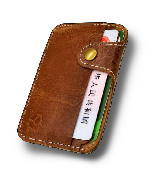 Secure Slim Genuine Leather Card Holder Wallet for Men - d'143 Men's Clothing