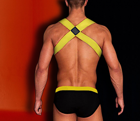 Neon-Yellow Harness for Men - d'143 Men's Clothing