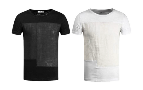 Casual Base Fit Patchwork T-Shirts for Men - d'143 Mens Fashion