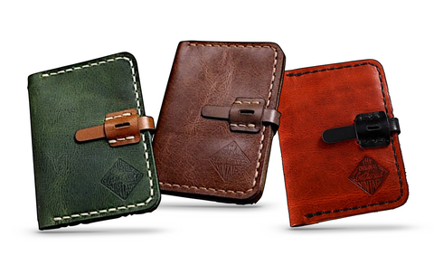 Slim Handmade Genuine Leather Wallet for Men - d'143 Men's Clothing