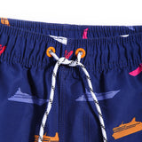 Sinking-Ships Print Quick-Dry Bermudas Swim Shorts for Men - d'143 Men's Clothing