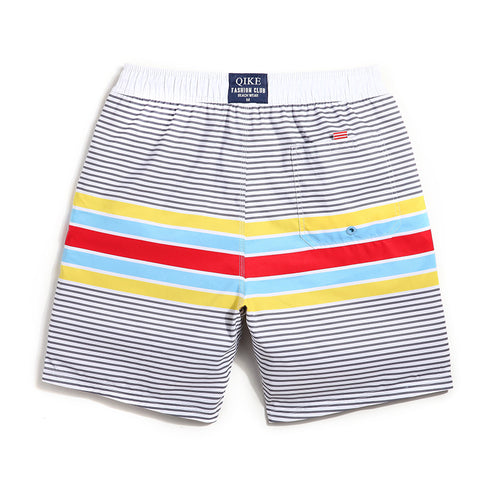 Pastel Stripes Quick Drying Bermudas Swimming Trunks for Men - d'143 Men's Clothing